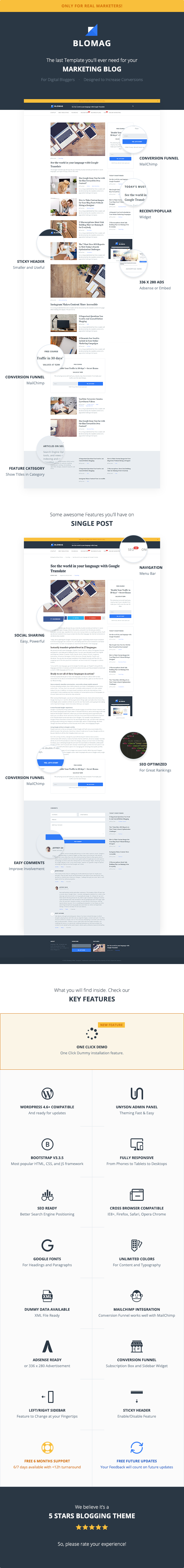 BloMag WordPress Theme - Exclusively for Marketers - 2